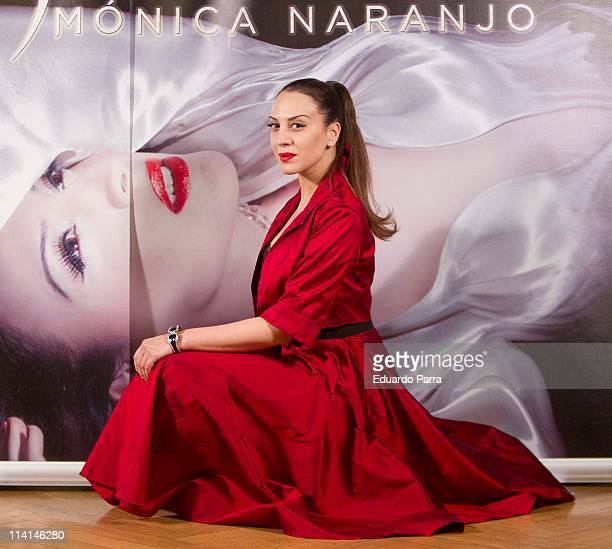 Singer Monica Naranjo attends New Tour 'Madame Nor photocall' at Santo Mauro hotel on May 13 2011 in Madrid Spain