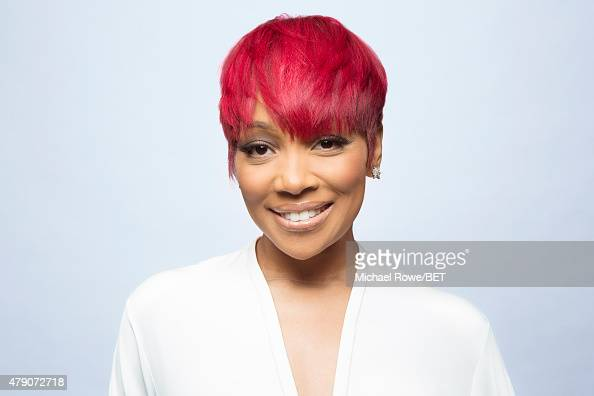 Singer Monica poses for a portrait at the 2015 BET Awards on June 28 2015 at the Microsoft Theater in Los Angeles California