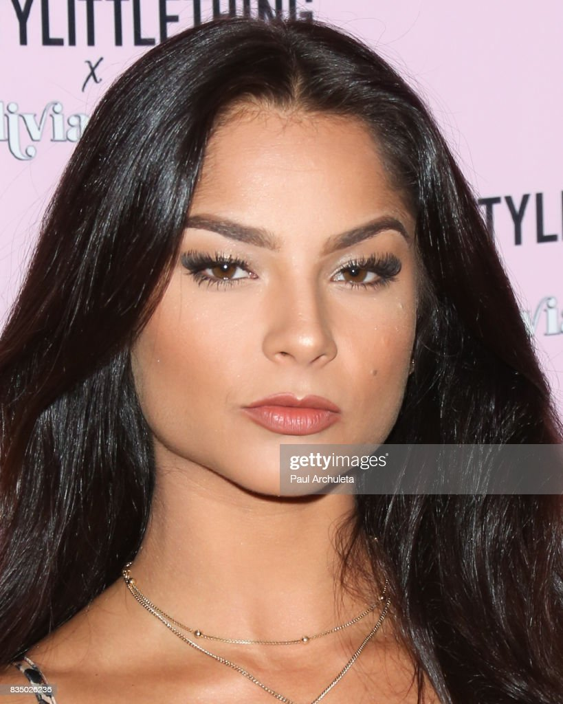 Singer Monique Gonzalez AKA MoMo attends the PrettyLittleThing X launch at Liaison Lounge on August 17, 2017 in Los Angeles, California.