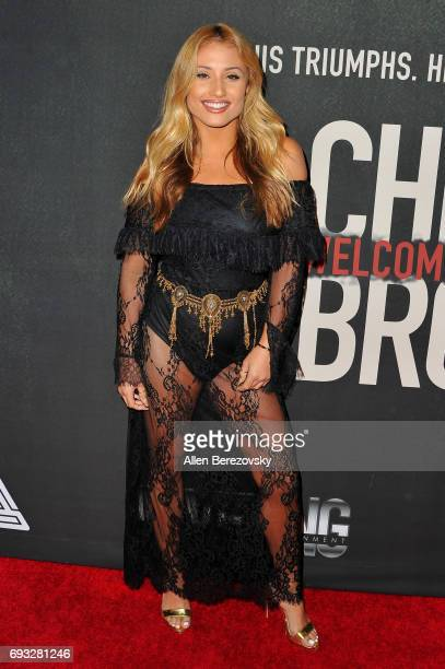 Singer Montana Tucker attends the premiere of Fathom Events' 'Chris Brown Welcome To My Life' at Regal LA Live Stadium 14 on June 6 2017 in Los...