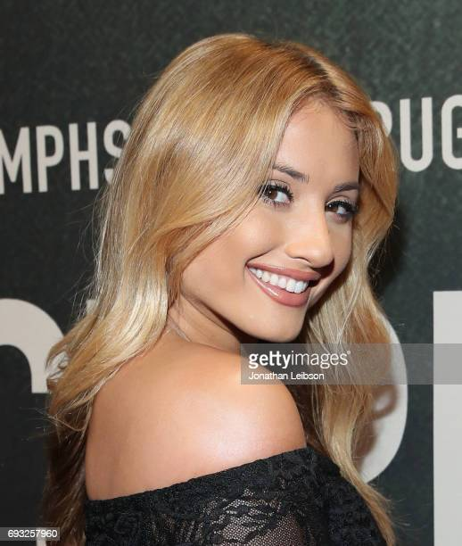 Singer Montana Tucker attends the Premiere Of Riveting Entertainment's 'Chris Brown Welcome To My Life' at LA LIVE on June 6 2017 in Los Angeles...