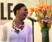 Singer Montego Glover performs at Barnes Noble Lincoln Triangle on April 6 2010 in New York City