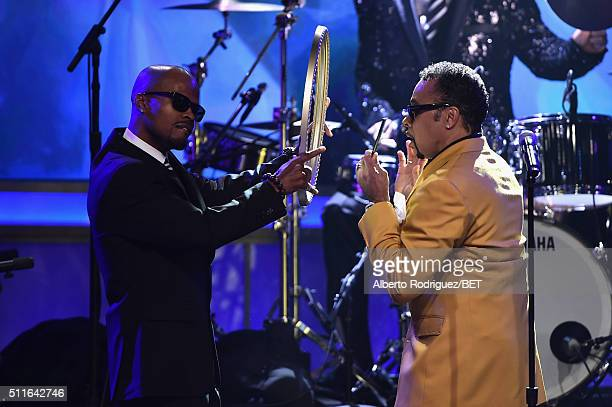 Singer Morris Day of The Time performs onstage during the 2016 ABFF Awards A Celebration Of Hollywood at The Beverly Hilton Hotel on February 21 2016...