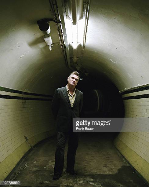 Singer Morrissey is photographed for British Airways High Life magazine on April 6 2004 in London England