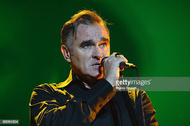 Singer Morrissey performs live at the Tempodrom on November 16 2009 in Berlin Germany