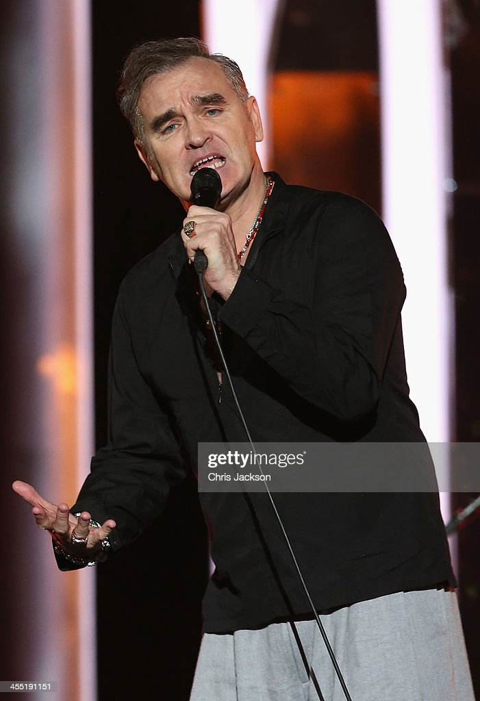 Singer <a gi-track='captionPersonalityLinkClicked' href=/galleries/search?phrase=Morrissey+-+Singer&family=editorial&specificpeople=11521934 ng-click='$event.stopPropagation()'>Morrissey</a> performs on stage during the 20th annual Nobel Peace Prize Concert press conference on Wednesday, December 11th at the Oslo Spektrum arena in Oslo, Norway.