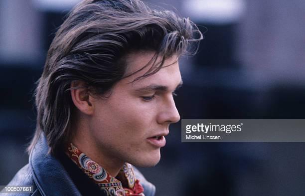 Singer Morten Harket of Norwegian group Aha in 1990