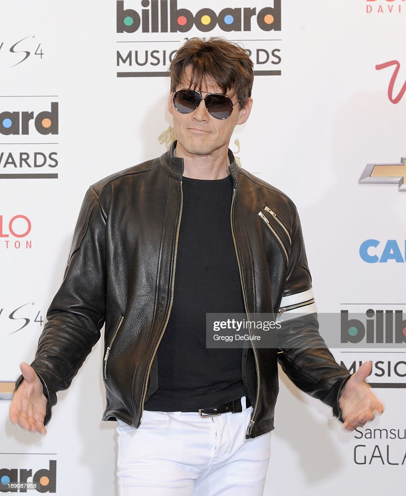 Singer <a gi-track='captionPersonalityLinkClicked' href=/galleries/search?phrase=Morten+Harket&family=editorial&specificpeople=675547 ng-click='$event.stopPropagation()'>Morten Harket</a> poses in the press room at the 2013 Billboard Music Awards at MGM Grand Garden Arena on May 19, 2013 in Las Vegas, Nevada.