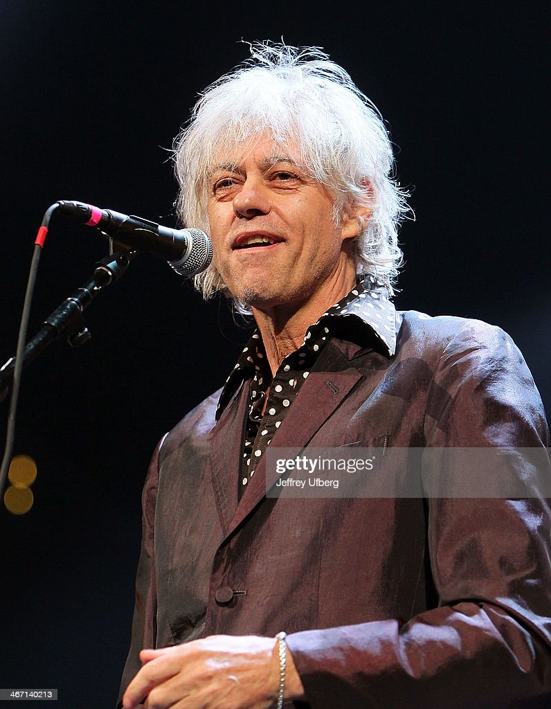 Singer / Musician Bob Geldof performs during the Amnesty International 'Bringing Human Rights Home' Concert at the Barclays Center on February 5, 2014 in the Brooklyn borough of New York City.