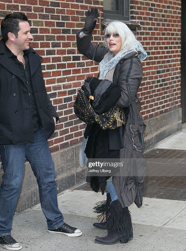 Singer / Musician <a gi-track='captionPersonalityLinkClicked' href=/galleries/search?phrase=Emmylou+Harris&family=editorial&specificpeople=240263 ng-click='$event.stopPropagation()'>Emmylou Harris</a> arrives to 'Late Show with David Letterman' at Ed Sullivan Theater on February 25, 2013 in New York City.