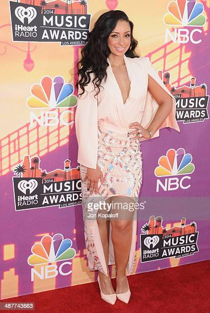 Singer Mya arrives at the 2014 iHeartRadio Music Awards at The Shrine Auditorium on May 1 2014 in Los Angeles California