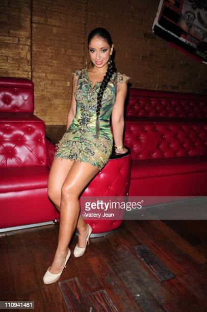 Singer Mya attends Cool from Cool and Dre birthday celebration at Club Lux hosted by Mya on March 25 2011 in Miami Beach Florida