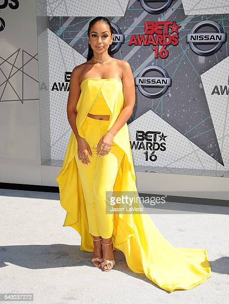 Singer Mya attends the 2016 BET Awards at Microsoft Theater on June 26 2016 in Los Angeles California