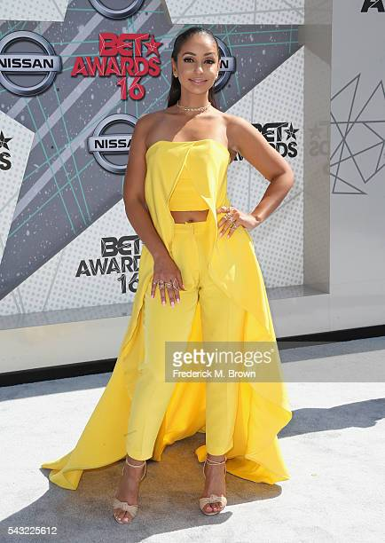 Singer Mya attends the 2016 BET Awards at the Microsoft Theater on June 26 2016 in Los Angeles California