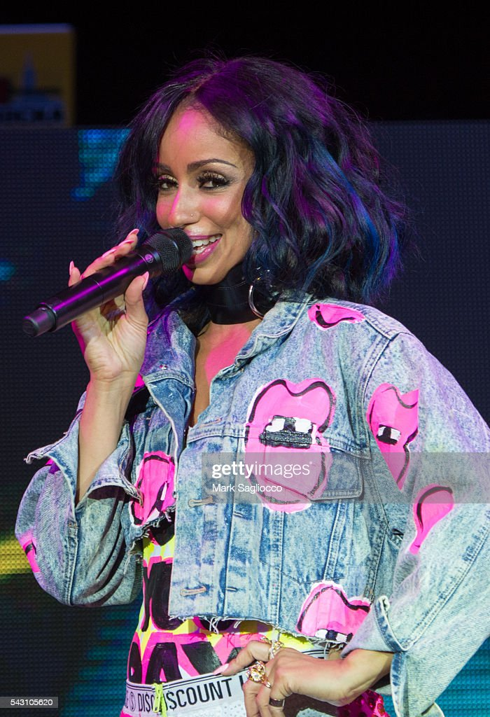 Singer Mya attends the New York City Pride 2016 - Teaze Concert at Pier 26 on June 25, 2016 in New York City.