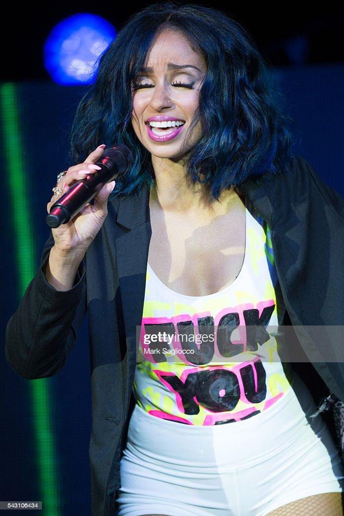 Singer Mya performs at the New York City Pride 2016 Teaze Concert at Pier 26 on June 25, 2016 in New York City.