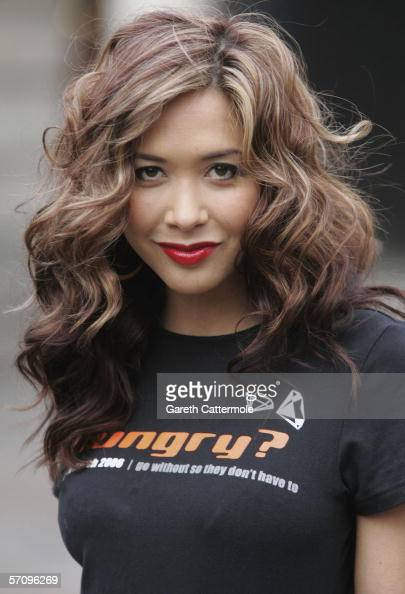 Singer Myleene Klass launches the World Vision 24 Hour Famine at Covent Garden Market on March 15 2006 in London England Klass is the ambassador for...