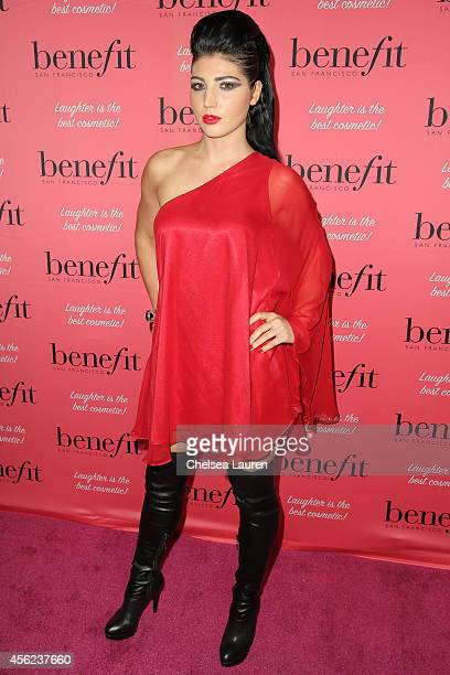 Singer N0vel attends Benefit Cosmetics' event hosted by Vanessa Hudgens at Space 15 Twenty on September 26 2014 in Los Angeles California