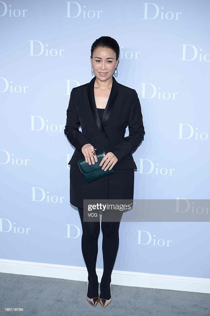 Singer Na Ying attends Christian Dior S/S 2013 Haute Couture Collection at Five on the Bund on March 30, 2013 in Shanghai, China.