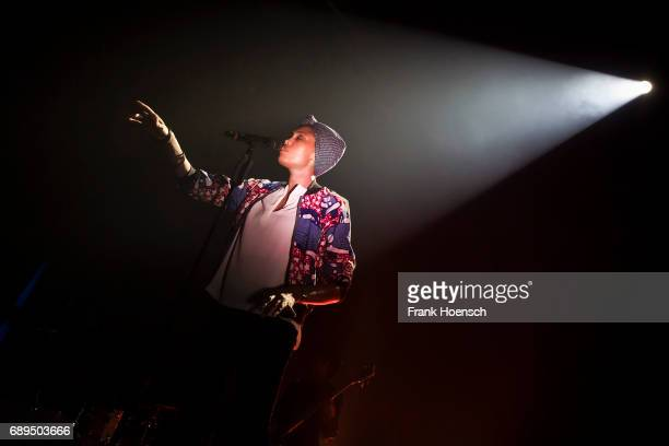Singer Nadia Mladjao aka Imany performs live on stage during a concert at the Huxleys on May 28 2017 in Berlin Germany