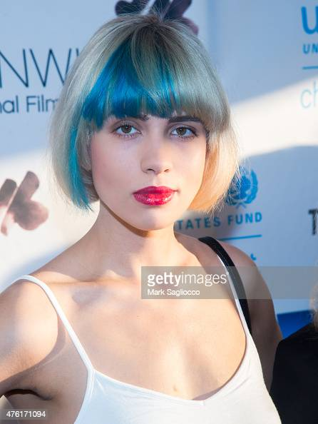 Singer Nadya Tolokonnikova of Pussy Riot attends the Greenwich International Film Festival's Changemaker Gala at L'Escale Restaurant on June 6 2015...