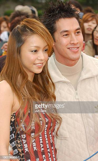 Singer Namie Amuro and MTV VJ during 2004 MTV Video Music Awards Japan Arrivals at Tokyo Bay NK Hall in Tokyo Japan