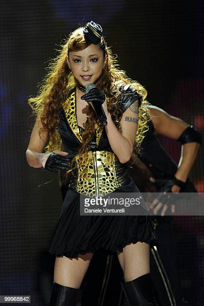 Singer Namie Amuro performs onstage during the World Music Awards 2010 at the Sporting Club on May 18 2010 in Monte Carlo Monaco