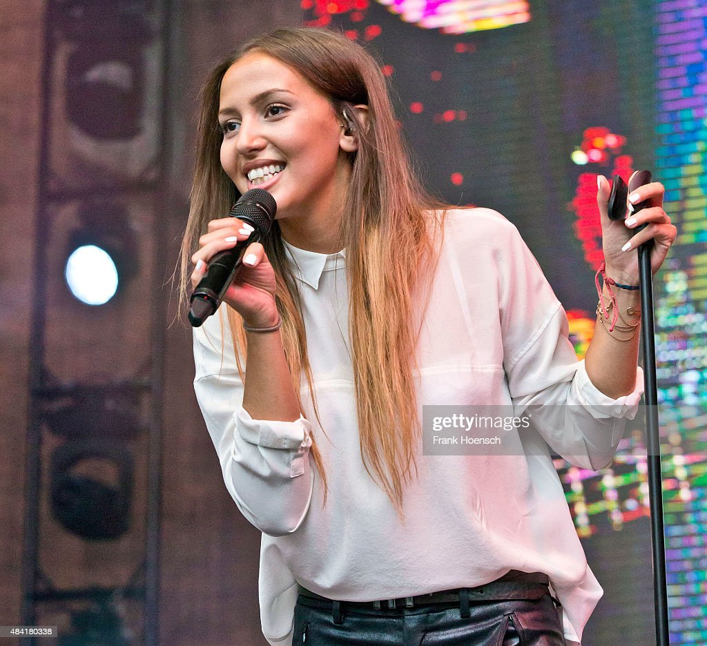 Singer Namika performs live during a concert at the Energy Music Tour at the Kulturbrauerei on August 15 2015 in Berlin Germany
