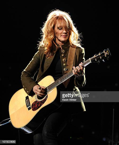Singer Nancy Wilson of Heart performs onstage during 'VH1 Divas Salute the Troops' presented by the USO at the MCAS Miramar on December 3 2010 in...