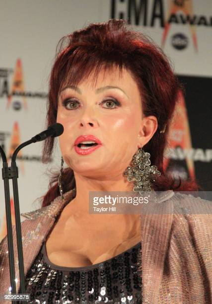Singer Naomi Judd poses in the press room at the 43rd Annual CMA Awards at the Sommet Center on November 11 2009 in Nashville Tennessee