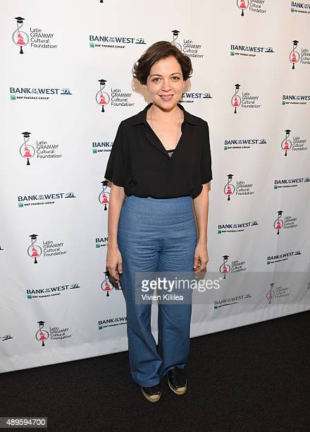 Singer Natalia Lafourcade attends Latin GRAMMYS in the Schools with Natalia Lafourcade on September 22 2015 in Monterey Park California