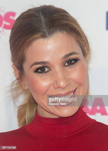 Singer Natalia Rodriguez attends 'Embarazados' premiere at Capitol cinema on January 27 2016 in Madrid Spain