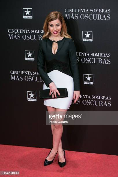 Singer Natalia Rodriguez attends the 'Fifty Shades Darker' premiere at Kinepolis Cinema on February 8 2017 in Madrid Spain