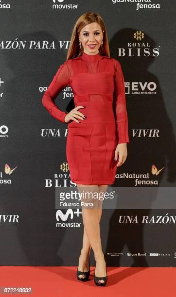 Singer Natalia Rodriguez attends the 'Una razon para vivir' premiere on November 9 2017 in Madrid Spain