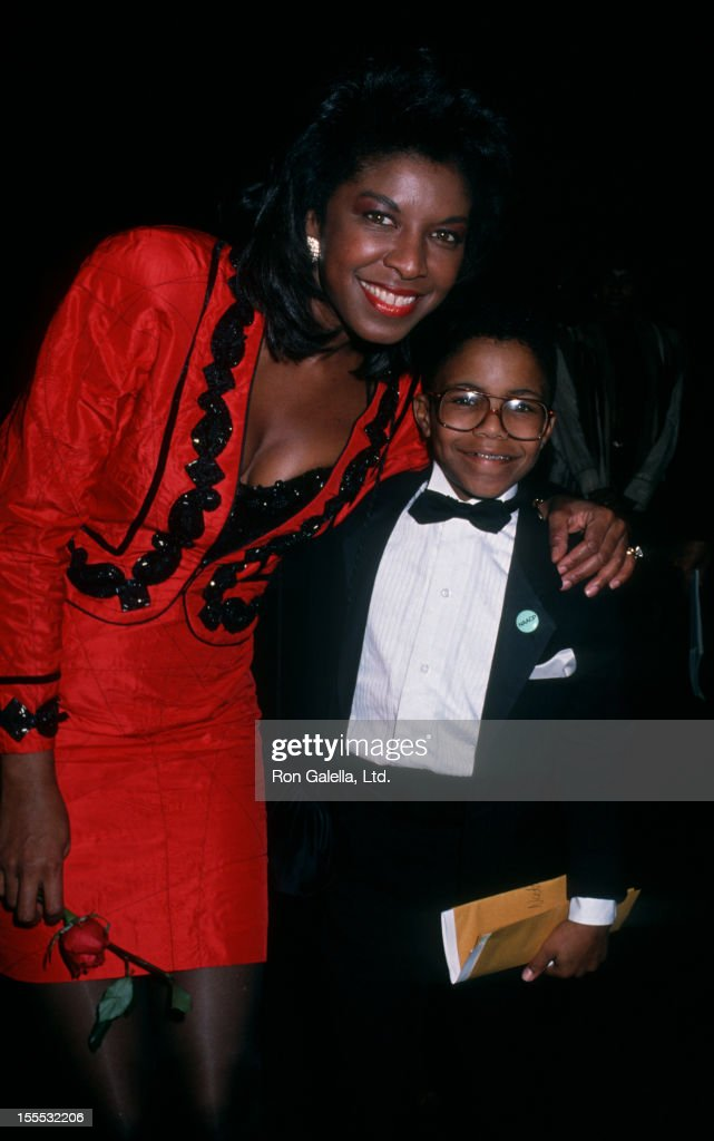Singer Natalie Cole and son Robert Yancy attending 21st Annual NAACP Image Awards on December 10, 1988 at Shrine Audtiorium in Los Angeles, California.