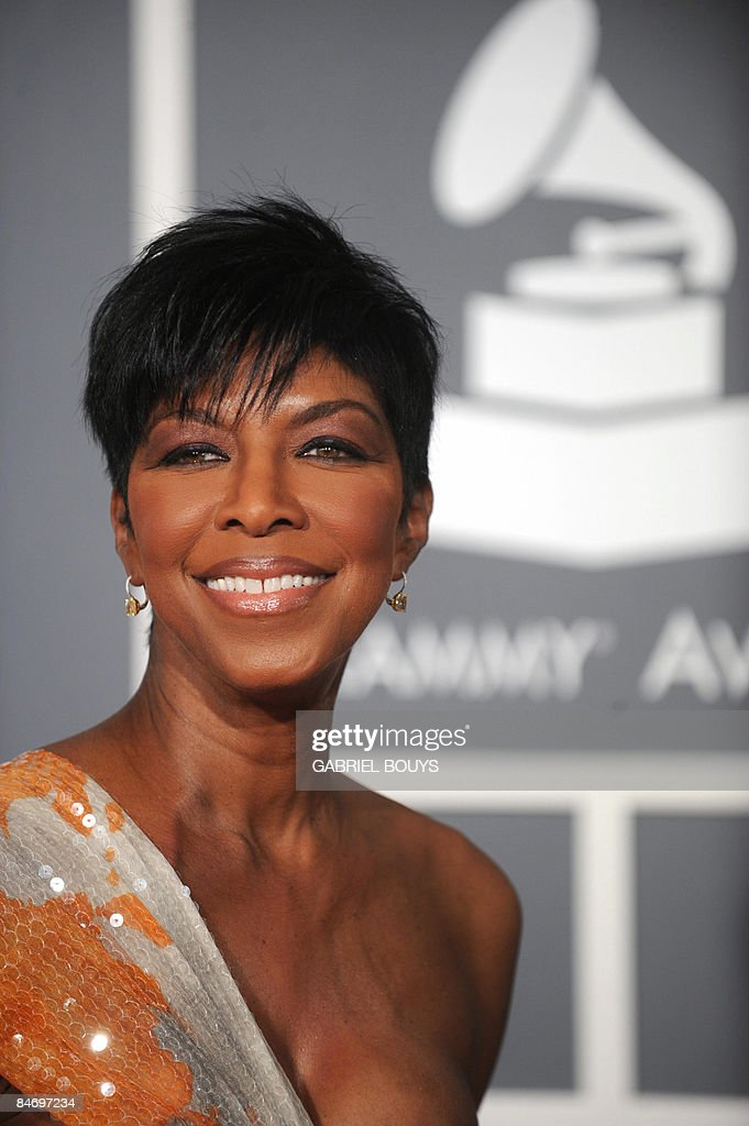 Singer <a gi-track='captionPersonalityLinkClicked' href=/galleries/search?phrase=Natalie+Cole&family=editorial&specificpeople=201839 ng-click='$event.stopPropagation()'>Natalie Cole</a> arrives at the 51st Annual Grammy Awards, at the Staples Center in Los Angeles, on February 8, 2009. AFP PHOTO GABRIEL BOUYS