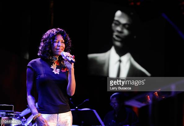 Singer Natalie Cole performs at the Exploring the Arts Gala at Cipriani Wall Street on September 27 2010 in New York City