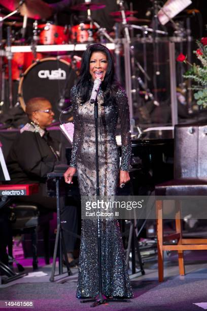 Singer Natalie Cole performs at The Greek Theatre on July 28 2012 in Los Angeles California