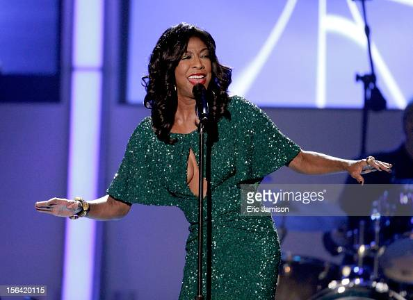 Singer Natalie Cole performs onstage during the 2012 Latin Recording Academy Person Of The Year honoring Caetano Veloso at the MGM Grand Garden Arena...