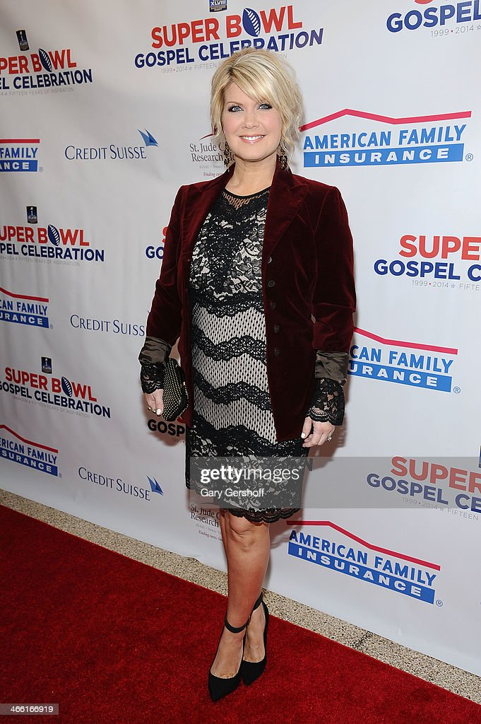 Singer <a gi-track='captionPersonalityLinkClicked' href=/galleries/search?phrase=Natalie+Grant&family=editorial&specificpeople=648456 ng-click='$event.stopPropagation()'>Natalie Grant</a> attends the Super Bowl Gospel Celebration 2014 on January 31, 2014 in New York City.