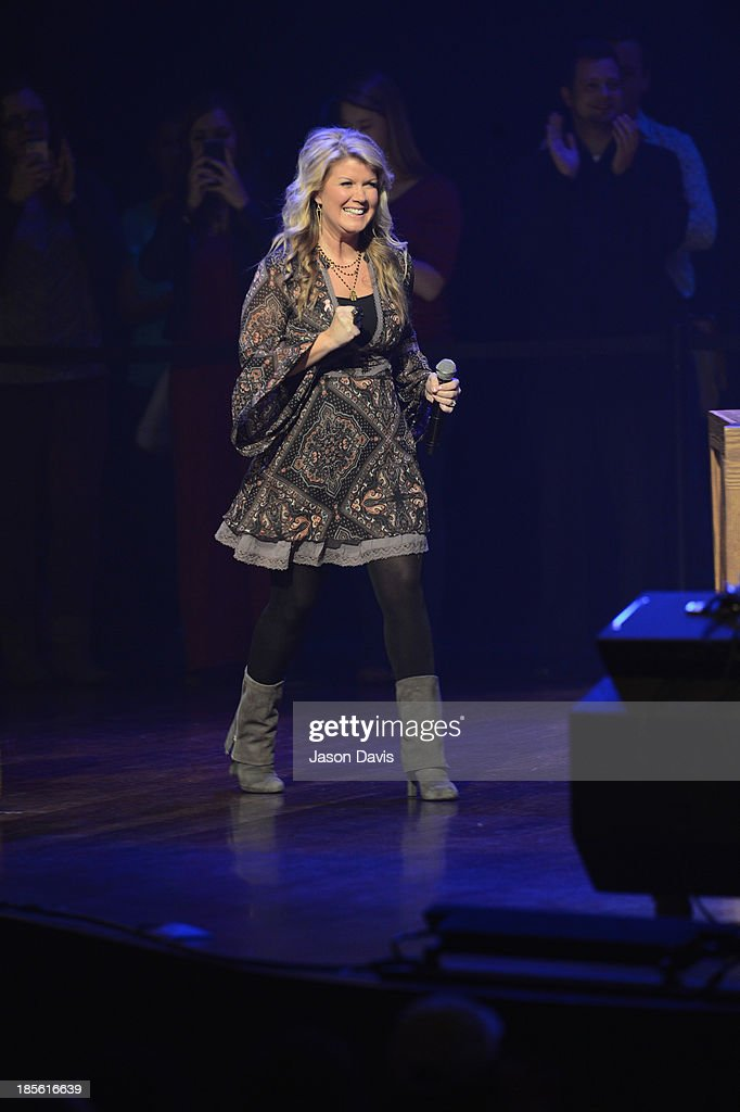 Singer Natalie Grant performs during the 5th annual Opry Goes Pink show at The Grand Ole Opry on October 22, 2013 in Nashville, Tennessee.