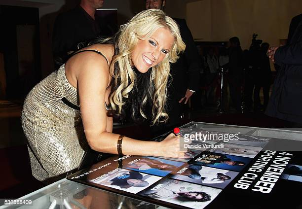 Singer Natalie Horler of Cascada attends the 2007 World Music Awards held at the Sporting Club on November 4 2007 in Monte Carlo Monaco
