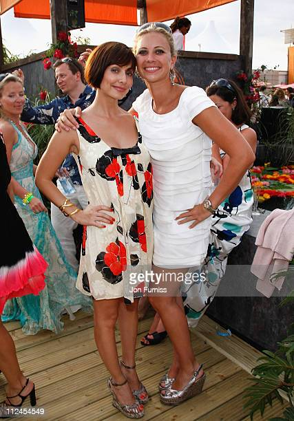 Singer Natalie Imbruglia and Holly Branson at the Chinawhite Tent during the Cartier International Polo held at Guards Polo Club on July 27 2008 in...