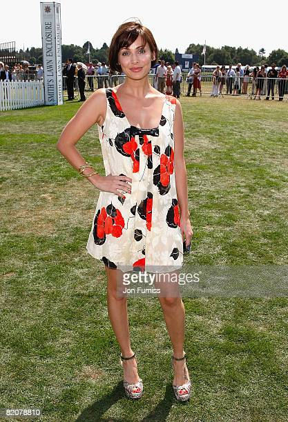Singer Natalie Imbruglia at the Cartier Tent during the Cartier International Polo held at Guards Polo Club on July 27 2008 in Windsor England
