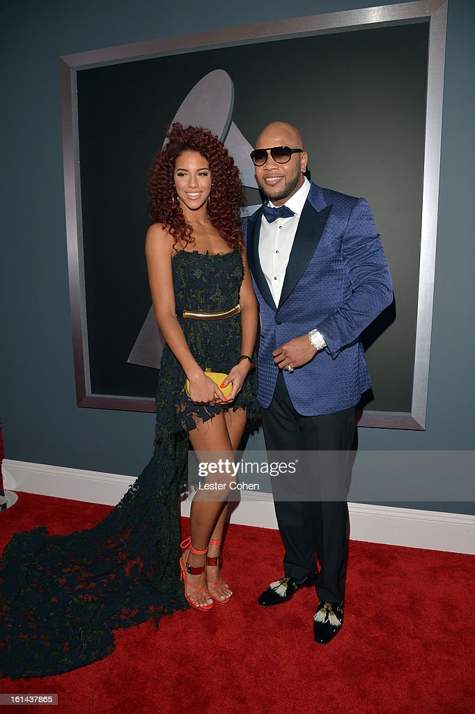 Singer Natalie La Rose (L) and rapper Flo Rida attend the 55th Annual GRAMMY Awards at STAPLES Center on February 10, 2013 in Los Angeles, California.