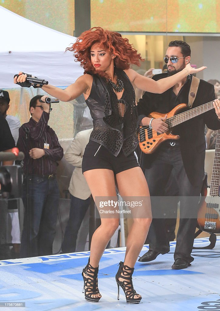 Singer Natalie La Rose performs on NBC's 'Today' at Rockefeller Plaza on August 9, 2013 in New York, New York.