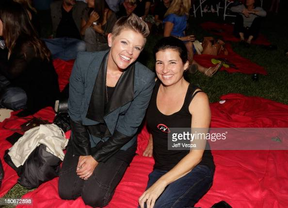 Singer Natalie Maines and Lewanne Elwes attend Eddie Vedder and Zach Galifianakis Rock Malibu Fundraiser for EBMRF and Heal EB on September 15 2013...