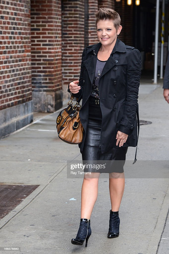 Singer Natalie Maines enters the 'Late Show With David Letterman' taping at the Ed Sullivan Theater on May 8, 2013 in New York City.