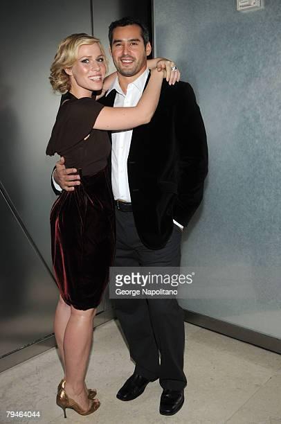 Singer Natasha Bedingfield and boyfriend Matt Robinson arrives at the New York Premiere Of 'Lipstick Jungle' at the Hearst Tower on January 31 2008...