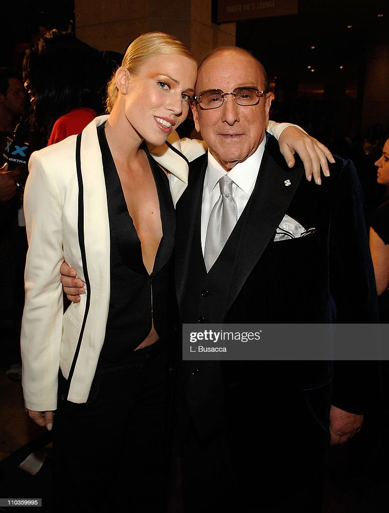 Singer Natasha Bedingfield and Chairman and CEO BMG US Clive Davis attend the 2008 Clive Davis Pre-GRAMMY party at the Beverly Hilton Hotel on February 9, 2008 in Los Angeles, California.